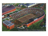 Minneapolis, Minnesota - University of Minnesota; Memorial Stadium Aerial Posters by  Lantern Press