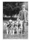 Four Eskimo Dogs at the Mineola Dog Show Prints