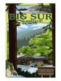 Big Sur Lodge, California Poster