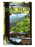 Big Sur Lodge, California Poster by  Lantern Press