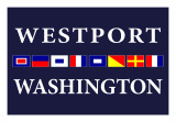 Westport, Washington - Nautical Flags Prints by  Lantern Press