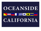 Oceanside, California - Nautical Flags Print by  Lantern Press
