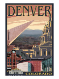 Denver, Colorado - Skyline View Prints by  Lantern Press