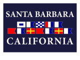 Santa Barbara, California - Nautical Flags Posters by  Lantern Press
