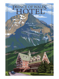 Waterton National Park, Canada - Prince of Wales Hotel Poster par  Lantern Press