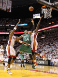 Boston Celtics v Miami Heat - Game Five, Miami, FL - MAY 11: Paul Pierce and Joel Anthony Photographic Print by Mike Ehrmann