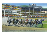 Oceanport, New Jersey - Monmouth Park Race Track Scene Prints by  Lantern Press