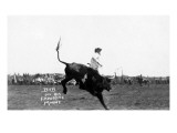 Rodeo Scene - Riding a Bucking Bull Posters by  Lantern Press