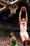 Boston Celtics v Miami Heat - Game Five, Miami, FL - MAY 11: Mike Miller and Paul Pierce Photographic Print by Victor Baldizon