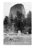 Wyoming - View of Devil's Tower National Monument Prints by  Lantern Press