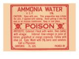 Ammonia Water Prints