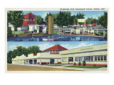 Toledo, Ohio - Walbridge Park Amusement Center View Prints by  Lantern Press