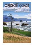 Oregon Coast Rocky Shore Poster