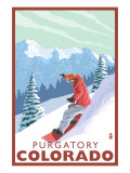 Purgatory, Colorado - Snowboarder Prints by  Lantern Press