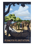 Plimoth Plantation, Massachusetts - Wampanoag Village Print
