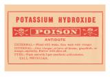 Potassium Hydroxide - Poison Print