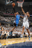 Oklahoma City Thunder v Memphis Grizzlies - Game Four, Memphis, TN - MAY 9: Russell Westbrook and S Photographic Print by Joe Murphy