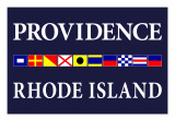 Providence, Rhode Island - Nautical Flags Posters by  Lantern Press