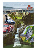 Watkins Glen, New York - Montage Posters by  Lantern Press