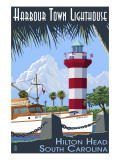 Hilton Head, South Carolina - Harbour Town Lighthouse Kunstdrucke von  Lantern Press