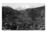 Manitou Springs, Colorado - Panoramic View of Town Poster by  Lantern Press