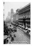 San Francisco, California - Emporium and Market Street Cable Cars Kunstdrucke
