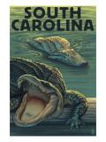 South Carolina - Alligators Prints by  Lantern Press