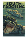 South Carolina - Alligators Prints