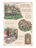 Winchester Mystery House - San Jose, CA - Technical Prints by  Lantern Press