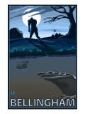 Bellingham, Washington Bigfoot Poster by  Lantern Press