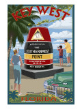Key West, Florida - Southernmost Point Prints by  Lantern Press