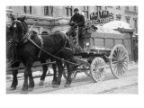 Carting Snow From New York Streets By Horse & Wagon Art