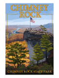 Chimney Rock State Park, NC - View from Top Print by  Lantern Press