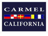 Carmel, California - Nautical Flags Prints by  Lantern Press