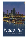 Navy Pier and Chicago Skyline Prints by  Lantern Press