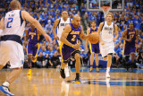 Los Angeles Lakers v Dallas Mavericks - Game Three, Dallas, TX - MAY 6: Derek Fisher Photographic Print by Noah Graham