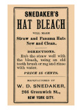 Hat Bleach Print