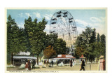 Chautauqua Lake, New York - Celoron Park; Ferris Wheel View Posters by  Lantern Press