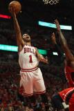 Atlanta Hawks v Chicago Bulls - Game Five, Chicago, IL - MAY 10: Derrick Rose Photographic Print by Jonathan Daniel
