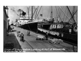 Brownsville, Texas - Ships Docked in Port Print by  Lantern Press