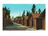 Yellowstone Nat'l Park, Wyoming - Park Lodge Sleeping Cabins Prints