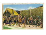 Roanoke Island, North Carolina - The Lost Colony Replication, Indian Scenes Prints by  Lantern Press