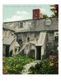 Salem, Massachusetts - Rear View of Witch House Prints by  Lantern Press