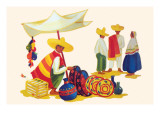 Mexican Basket Merchant Prints