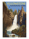 Tower Falls - Yellowstone National Park Art by  Lantern Press
