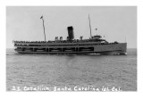 Santa Catalina Island, California - SS Catalina Ship Poster by  Lantern Press