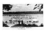 Streckfus Steamer Admiral on the Mississippi Print