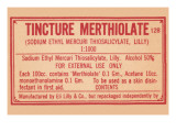 Tincture Merthiolate Posters