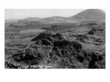Idaho - Panoramic View of Craters of the Moon Art by  Lantern Press