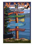 Sitka, Alaska - Destination Sign Prints by  Lantern Press